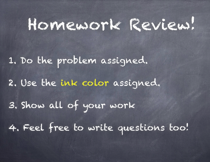 Homework Review Slide 1