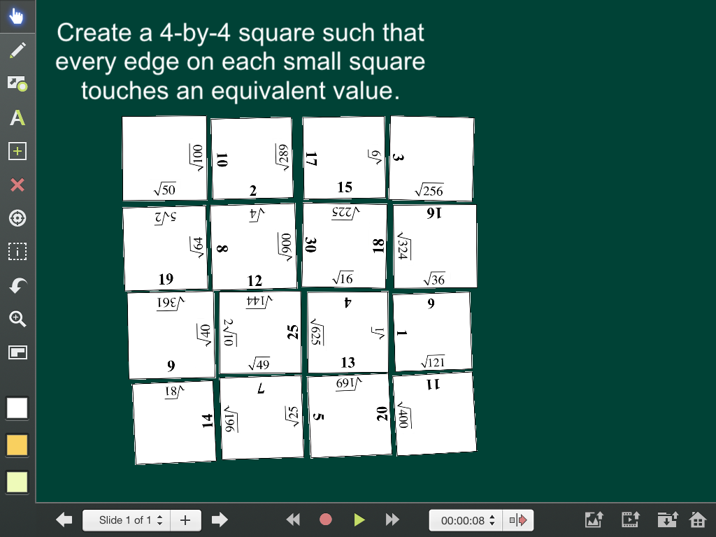 Using Explain Everything for Hands-On Digital Puzzles | MathyCathy's