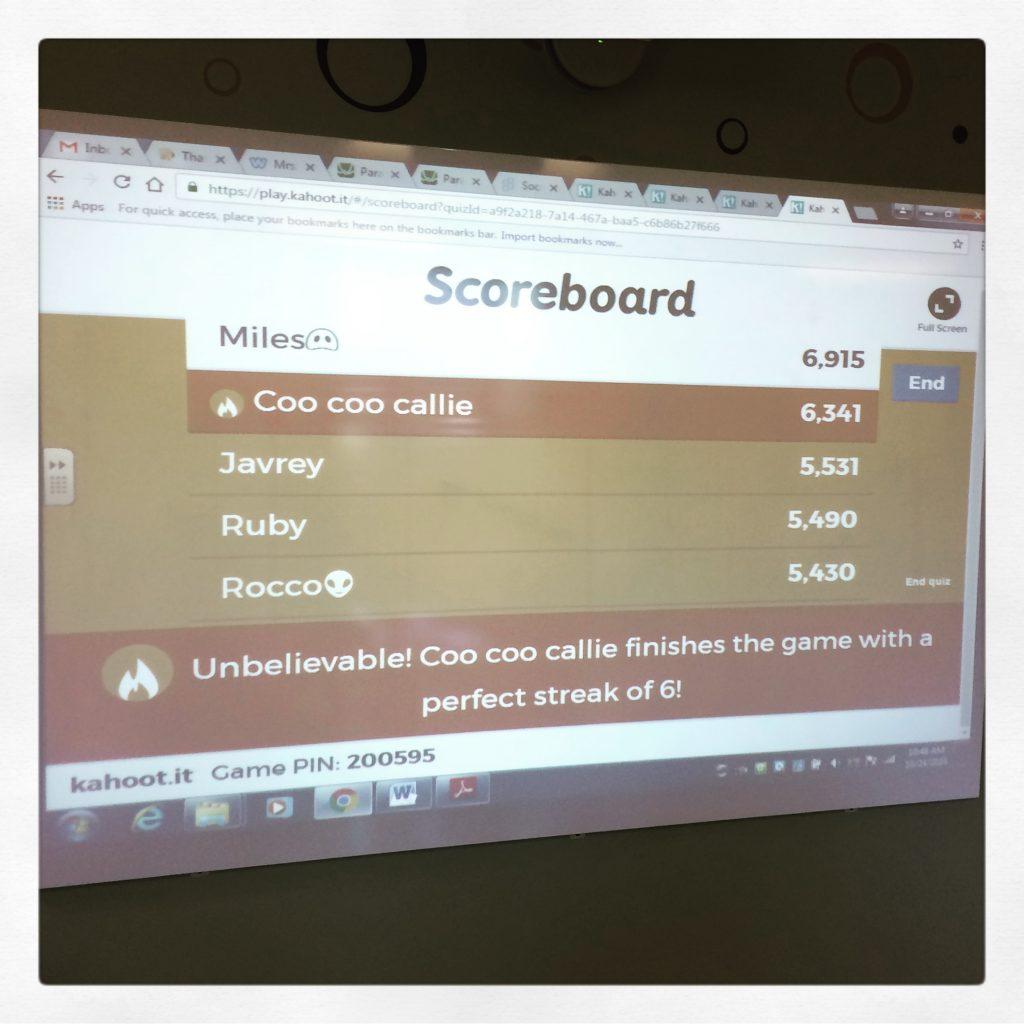 Kahoot! Answer Streak Bonus = Good News For Math Class