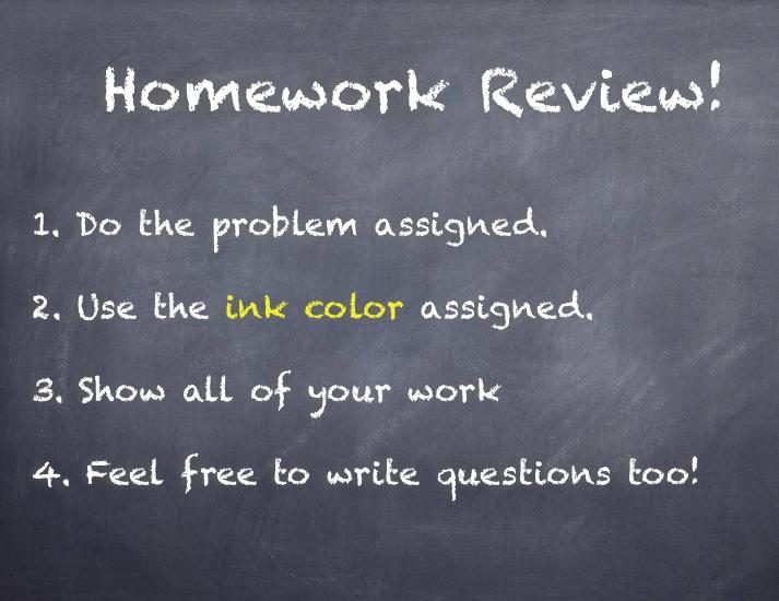 Homework Review Slide 1