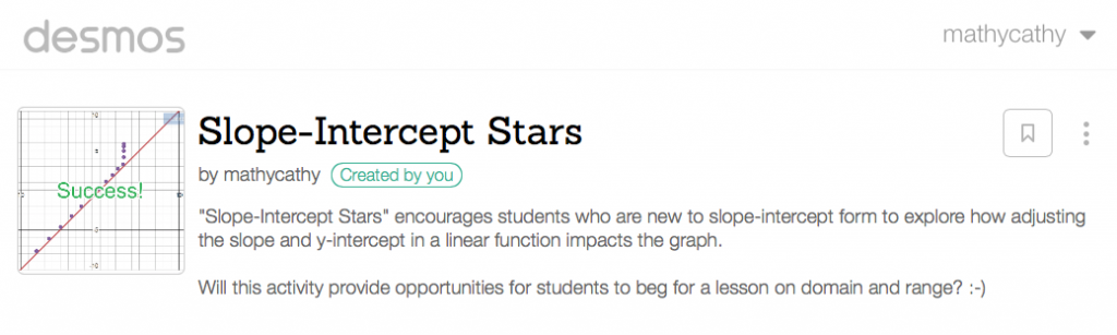 Slope-Intercept Stars